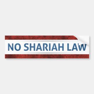Autocollant De Voiture Aucune loi de Shariah