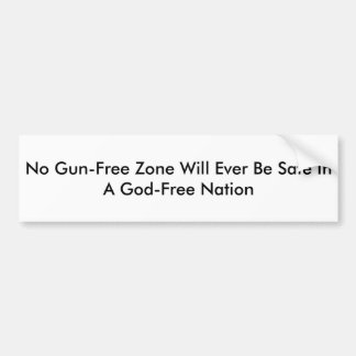 Autocollant De Voiture Aucune zone Sans Arme à feu ne sera jamais sûre