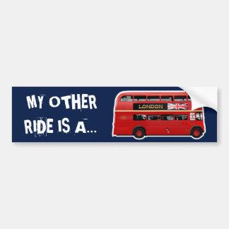 Autocollant De Voiture Autobus à impériale rouge de Londres