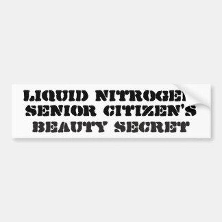 Autocollant De Voiture Azote liquide, secret de beauté de vieillards