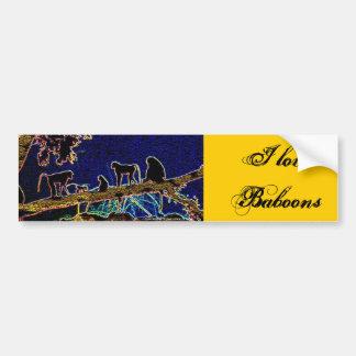 Autocollant De Voiture Babouin sur l'arbre de Junglewalk, COM