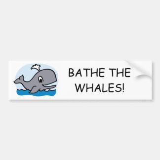 Autocollant De Voiture Baignez les baleines