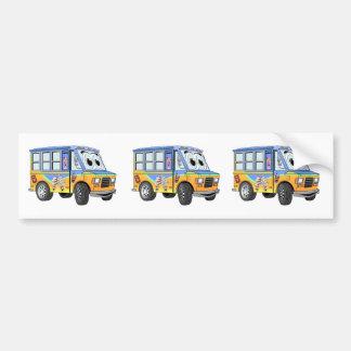 Autocollant De Voiture Bande dessinée de camion de crème glacée