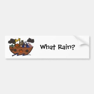 Autocollant De Voiture Bande dessinée de l'arche de Noé drôle