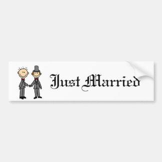 Autocollant De Voiture Bande dessinée drôle de mariage homosexuel de