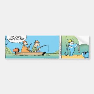 Autocollant De Voiture Bande dessinée drôle de pêche