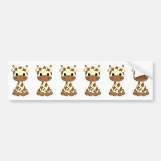 Autocollant De Voiture Bande dessinée mignonne de girafe de bébé