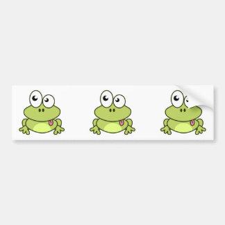 Autocollant De Voiture Bande dessinée mignonne drôle de grenouille