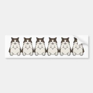 Autocollant De Voiture Bande dessinée suédoise de chat de forêt