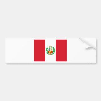 Autocollant De Voiture Bandera del Perú - drapeau du Pérou