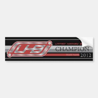 Autocollant De Voiture Bannière de champion d'UHB