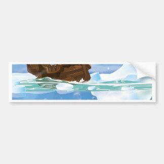Autocollant De Voiture Bateau de voile dans la glace arctique