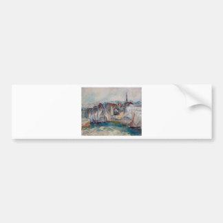 Autocollant De Voiture Bateaux dans le port de Honfleur par Claude Monet