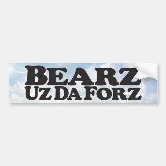 Autocollant De Voiture Bearz Uz DA Forz - adhésif pour pare-chocs