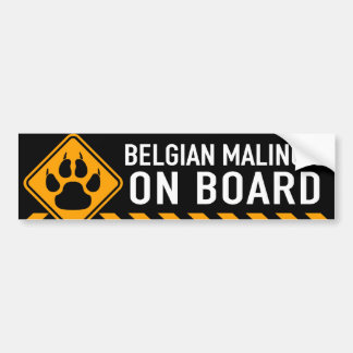Autocollant De Voiture Belge Malinois à bord