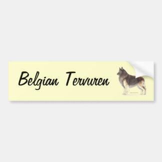 Autocollant De Voiture Belge Tervuren