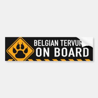 Autocollant De Voiture Belge Tervuren à bord
