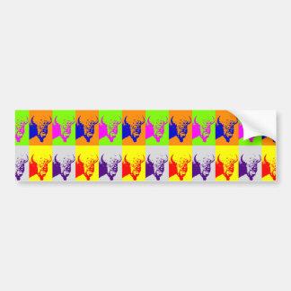 Autocollant De Voiture Bison de Buffalo d'art de bruit de 4 couleurs