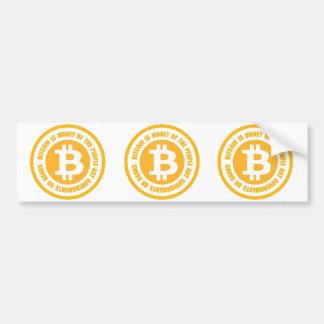 Autocollant De Voiture Bitcoin est argent des gouvernements de personnes