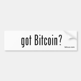 Autocollant De Voiture Bitcoin obtenu ?