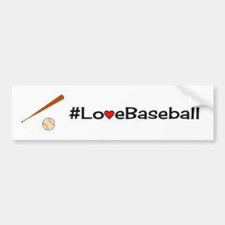 Autocollant De Voiture Blanc de slogan de base-ball d'amour