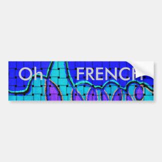 Autocollant De Voiture Bleu français