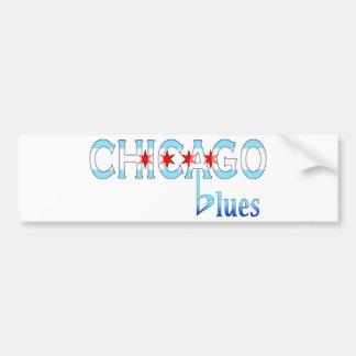 Autocollant De Voiture Bleus de Chicago, conception de drapeau de Chicago