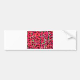 Autocollant De Voiture Boîtes remplies de fraises rouges