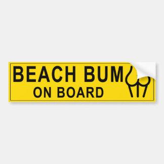 Autocollant De Voiture Bon à rien de la plage de la femme