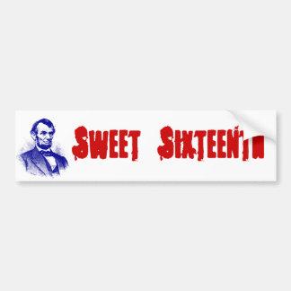 Autocollant De Voiture Bonbon seizième Abraham Lincoln à adhésif pour