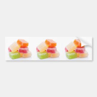 Autocollant De Voiture Bonbons carrés gommeux colorés