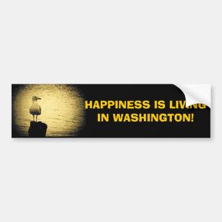 Autocollant De Voiture Bonheur vivant Meme de l'état de Washington