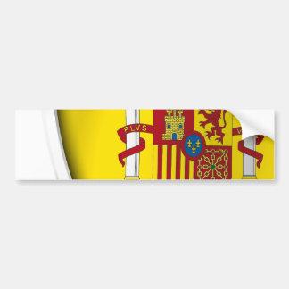 Autocollant De Voiture Bouclier de l'Espagne