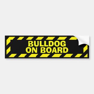 Autocollant De Voiture Bouledogue à bord d'autocollant jaune de