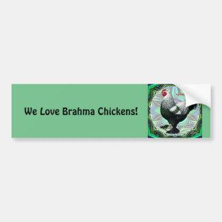 Autocollant De Voiture Brahma :  Coq foncé de fantaisie