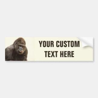 Autocollant De Voiture Bumpersticker drôle de coutume de gorille