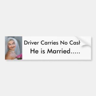 Autocollant De Voiture Bumpersticker marié très drôle ! !