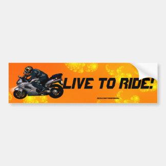 Autocollant De Voiture Cadeau de transport de motard de puissance de moto