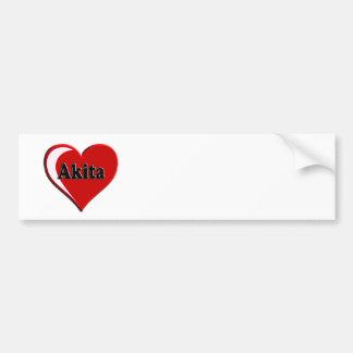 Autocollant De Voiture Cadeaux d'amoureux des chiens de coeur d'Akita
