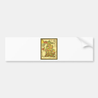 Autocollant De Voiture Carte 1853 vive de l'allégeance vraie MI