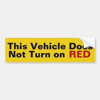Autocollant De Voiture Ce véhicule n'allume pas l'autocollant ROUGE