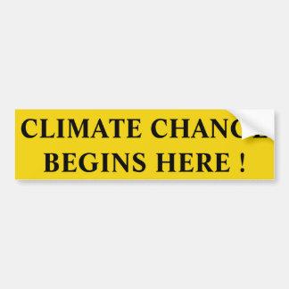 Autocollant De Voiture changement climatique