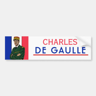 Autocollant De Voiture Charles de Gaulle