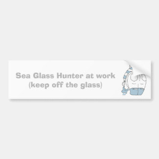 Autocollant De Voiture Chasseur de verre de mer au travail…