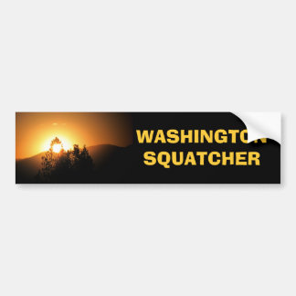 Autocollant De Voiture Chasseur de Washington Squatcher Bigfoot