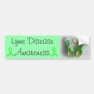 Autocollant De Voiture Chaussures de conscience de la maladie de Lyme et