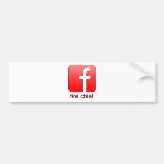 Autocollant De Voiture Chef des pompiers de Facebook de logo de modèle