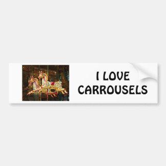 Autocollant De Voiture Chevaux de carrousel