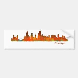 Autocollant De Voiture Chicago US Skyline cityscape