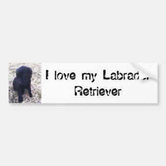 Autocollant De Voiture Chiot noir de labrador retriever